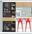 kitchen bar interior vector image