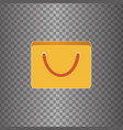 icon bag vector image