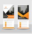 orange black business roll up banner flat design vector image