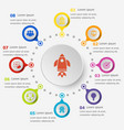 infographic template with startup icons vector image
