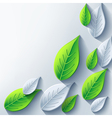 Abstract eco background with 3d leaf vector image