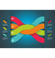 Modern origami style number options banner Can be vector image