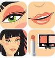 eye makeup vector image