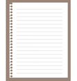 Spiral notebook paper vector image