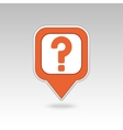 Question mark pin map icon Map pointer markers vector image