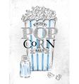 Poster popcorn salt vector image