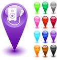 Karaoke button vector image vector image