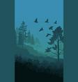 autumn nature landscape template vector image