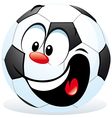 cartoon soccer ball vector image