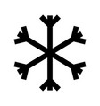 christmas snowflake snow decoration winter symbol vector image