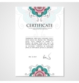 Graphic design template document with floral hand vector image