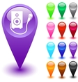 Karaoke button vector image