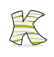 Letter K Monster zombie Mummy ABC icon vector image