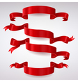 Set of Red Satin Ribbons vector image