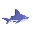 smiling cartoon shark on a white background vector image