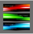 Set of glossy banners vector image vector image
