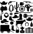 cowboy pictograms vector image