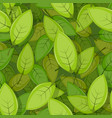 seamless green spring leaves background vector image vector image