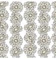 Vintage floral print seamless background vector image