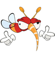 Cartoon of a red fly insect vector image
