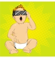Baby in 3d anaglyph glasses vector image