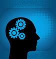 Binary Man with Gears vector image