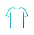 blue tshirt linear icon t-shirt symbol vector image