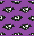 halloween pattern with bat vector image