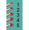 human hand gesture vector image