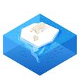 Isometric 3d of white bear vector image