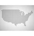 Map of USA from round dots vector image