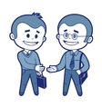 Meeting of two businessmen vector image