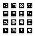 Menu settings tools icons set vector image