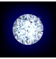 Round diamond vector image