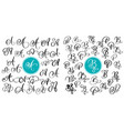 set of hand drawn calligraphy letter a and vector image