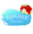 Summer Banner Blot For Design vector image
