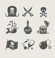 pirates accessory set of icon vector image vector image