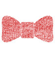 bow tie fabric textured icon vector image