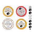 set of template labels for cheese vector image
