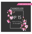 Floral Graphic Design - for t-shirt fashion prints vector image