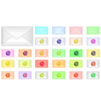 color envelope icons vector image vector image
