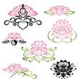 Lotus flowers set vector image