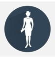Busines woman icon Fashion lady with small bag vector image