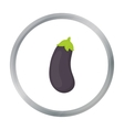 Eggplant icon cartoon Singe vegetables icon from vector image