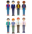 Faceless men vector image