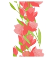 Flower tulip seamless garland vector image