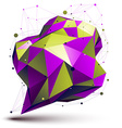 Modern digital technology style Purple abstract vector image