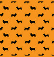 seamless pattern with black dogs silhouettes - vector image