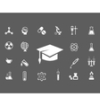 Set of trendy science icons vector image