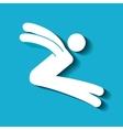 silhouette of sportsman design vector image